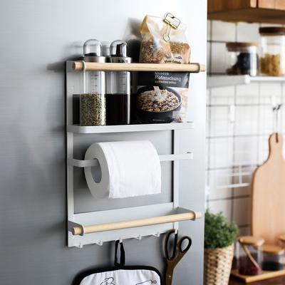 川岛屋 创意日式磁性冰箱侧壁挂架置物挂钩厨房多功能收纳架ZW-15