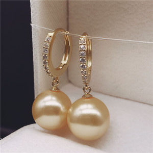 925 sterling silver natural pearl purple pearl earrings earrings ear hook gold white pearl earrings earrings