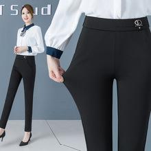 2021秋lt2季女士休lz修身显瘦铅笔(小)脚裤子华哥弟情长裤