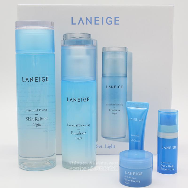 道恩韩国代购Laneige兰芝水库套装凝肌水乳套装补水保湿两件套