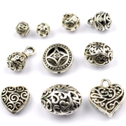 Myatou Miao silver hidden silver hollow sphere-shaped oval flower bouquet cut flowers once Ball pendant bead