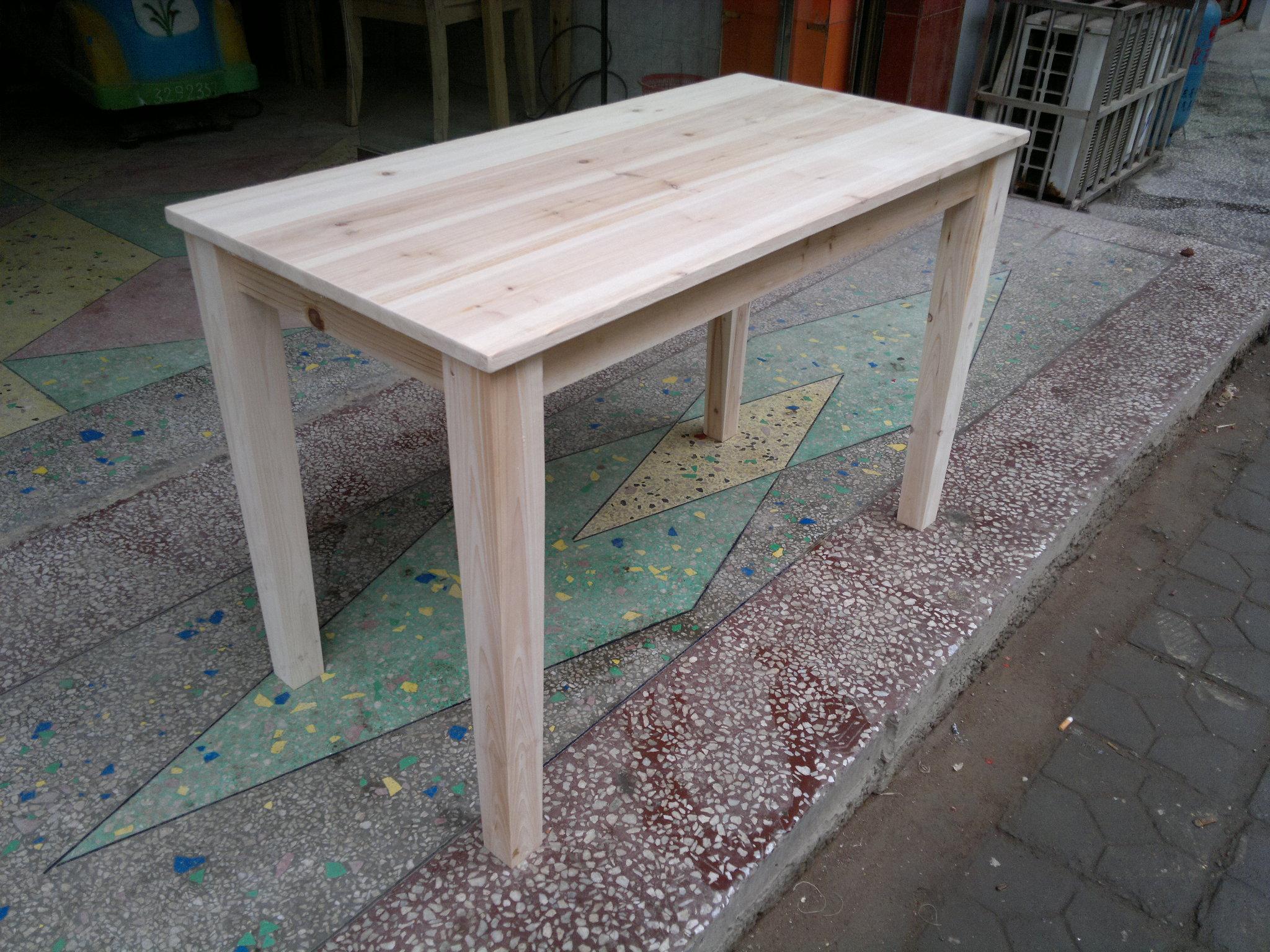 实木长条桌书桌电脑桌杉木桌学生简易木桌餐桌大排档早餐桌工作台