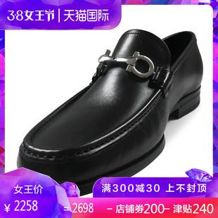 FERRAGAMO 菲拉格慕秋冬新款男士双面马蹄扣商务休闲皮鞋0686084