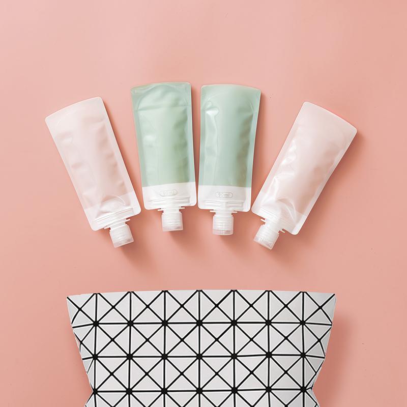 旅行便携乳液分装瓶套装分装袋洗发水沐浴露可折叠软袋化妆品空瓶