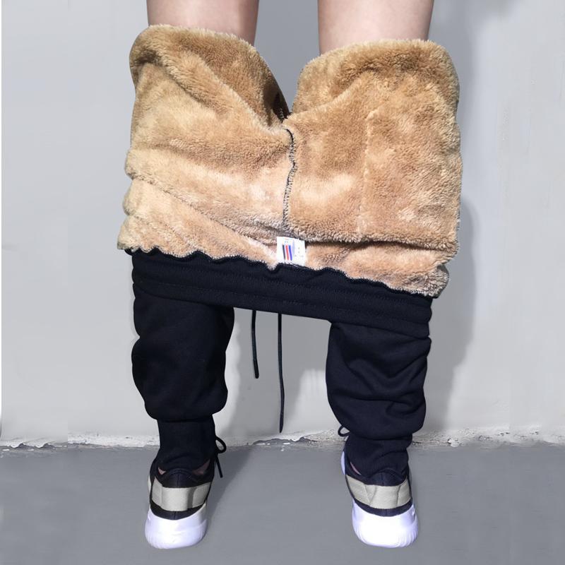 运动裤男士加绒加厚青少年外穿保暖冬季韩版秋冬款宽松冬裤子卫裤