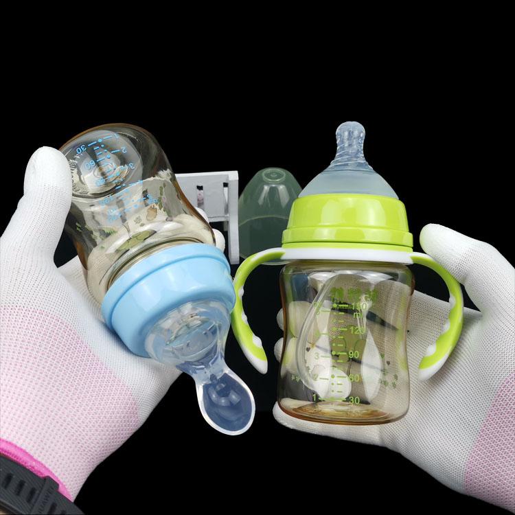 新生儿宽口径PPSU奶瓶初生婴儿喂水硅胶奶嘴勺宝宝喂奶带手柄吸管