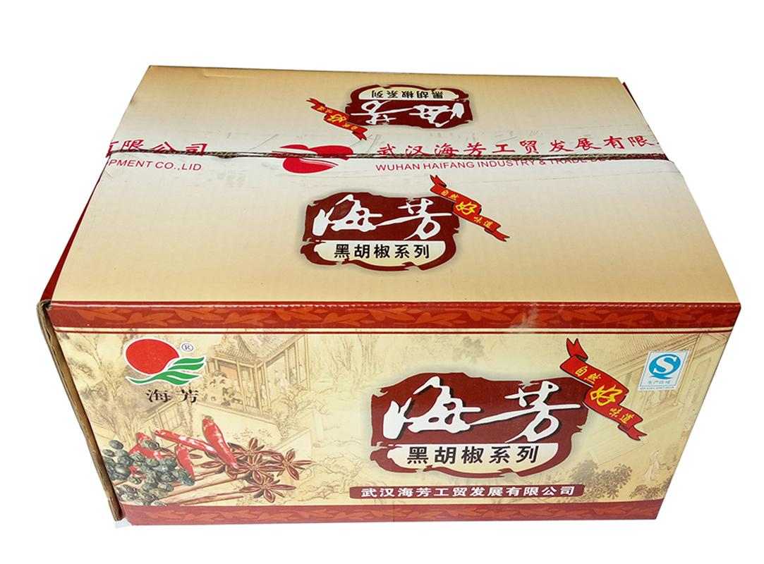海芳天然黑胡椒粉200g箱装, 25包/件 烧烤调料牛排料烘焙原料