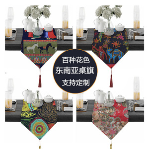 Cotton and linen Southeast Asian ethnic style cloth table flag shoe cabinet cover towel coffee table tablecloth middle table cushion strip cover cloth strip