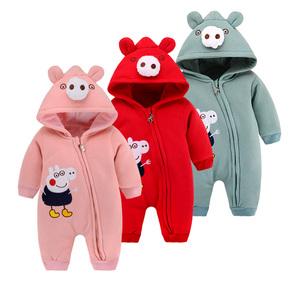 秋装宝宝连体衣服外出抱衣保暖新生婴儿春秋季冬3男6个月12女1岁0