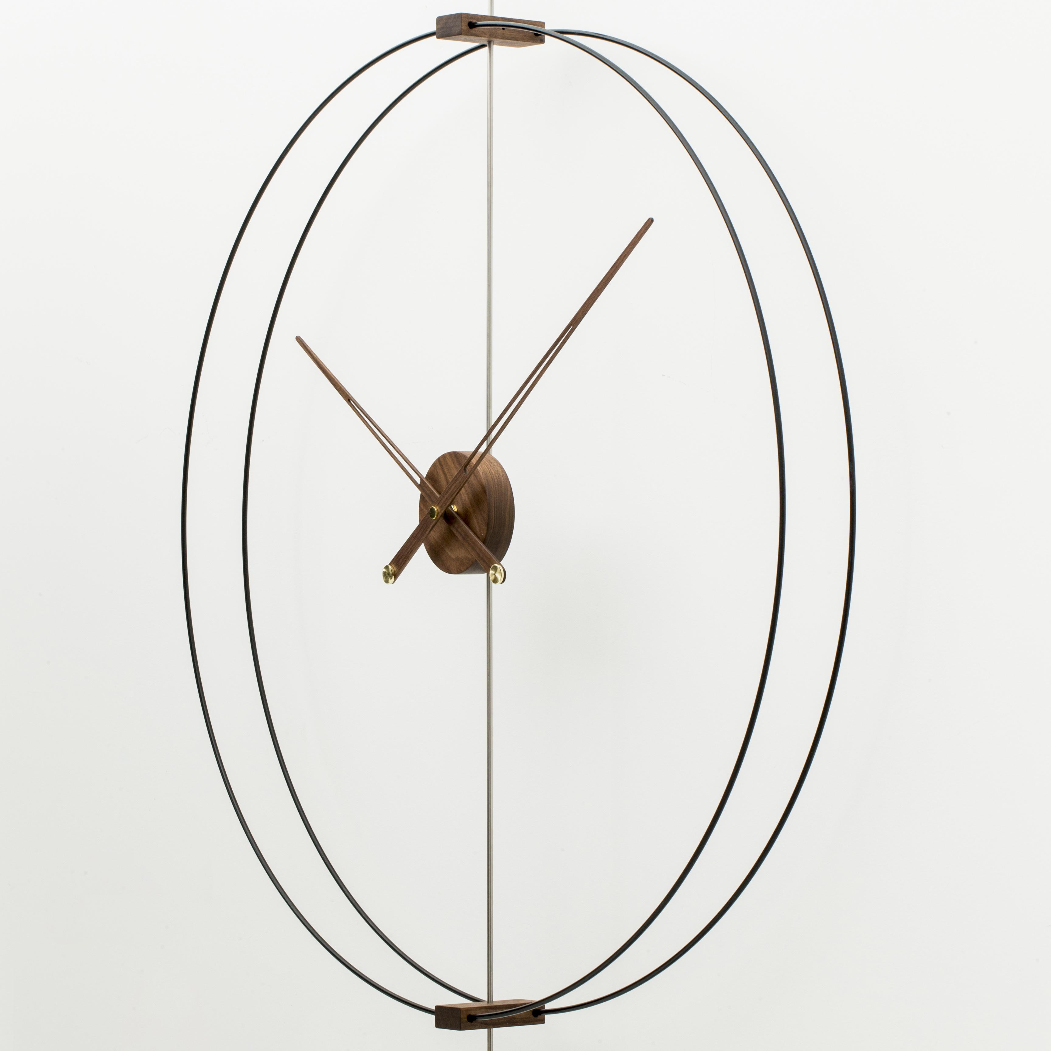 家用艺术静音创意轻奢西班牙极简样板间客厅实木超大指针挂钟表