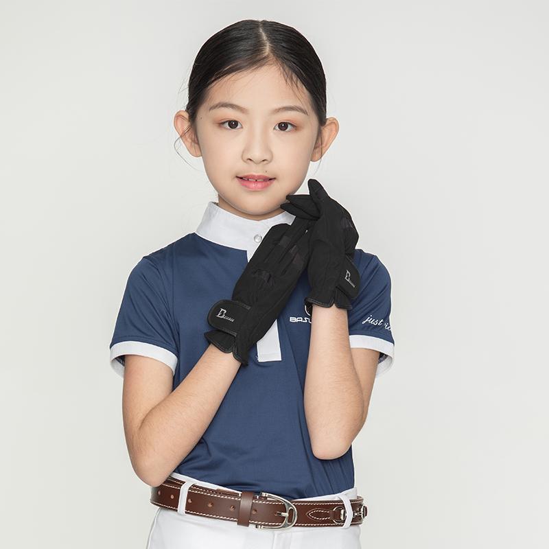 儿童马术手套儿童骑马手套儿童障碍马术手套儿童马术装备八尺龙
