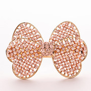 Package mail F074 well Korea jewelry Butterfly first clip hairpin rhinestone clip hair ACC