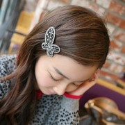 Good Korea Korean version of alloy rhinestone Butterfly hair jewelry first clip top clip