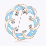 Good European and American fashion jewelry elegant blue sea starry brooch women Korea exaggerated floral wedding A088