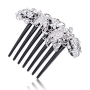 H024 good jewelry Korea hair accessories Korean version of popular hair headdress rhinestones Butterfly plug comb