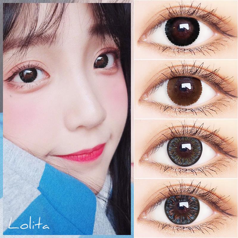 2片装美瞳大直径14.8mm黑巧年抛混血网红同款隐形眼镜卡乐芙女JL