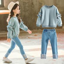 女童秋装套装2021新款4儿童ab12秋5洋bx装7衣服8岁潮两件套9