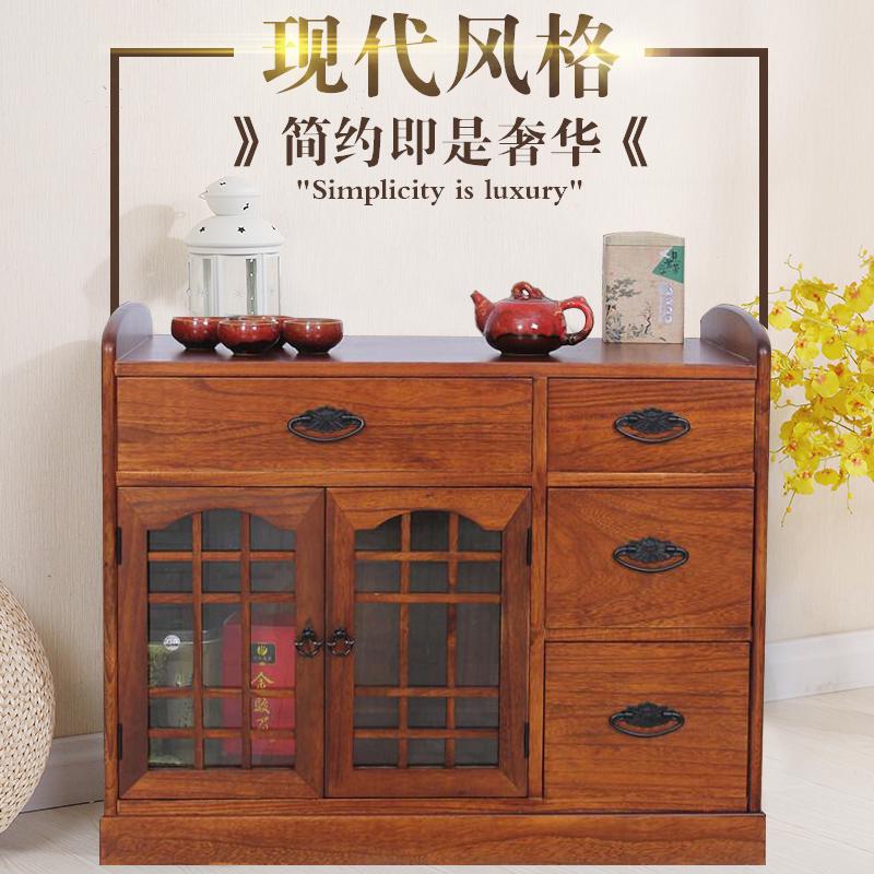 实木茶柜茶水柜中式简约客厅多功能餐边柜办公室茶柜架小型储物柜