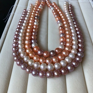 Genuine fake one lose ten natural pearl necklace 10-11-12mm near perfect circle strong light to give mother-in-law gift