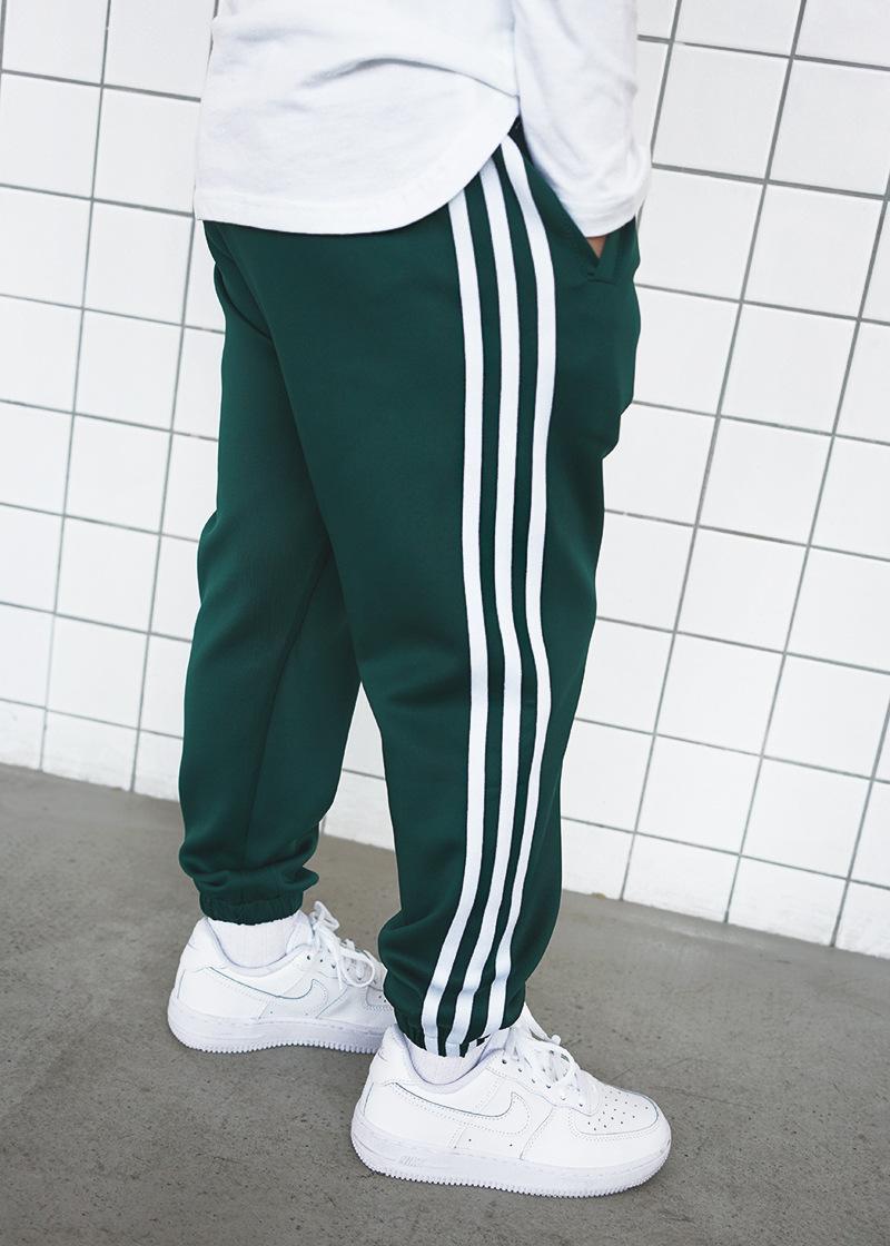 街区宝宝儿童嘻哈街舞三条杠运动长裤子男童女童复古束脚裤hiphop