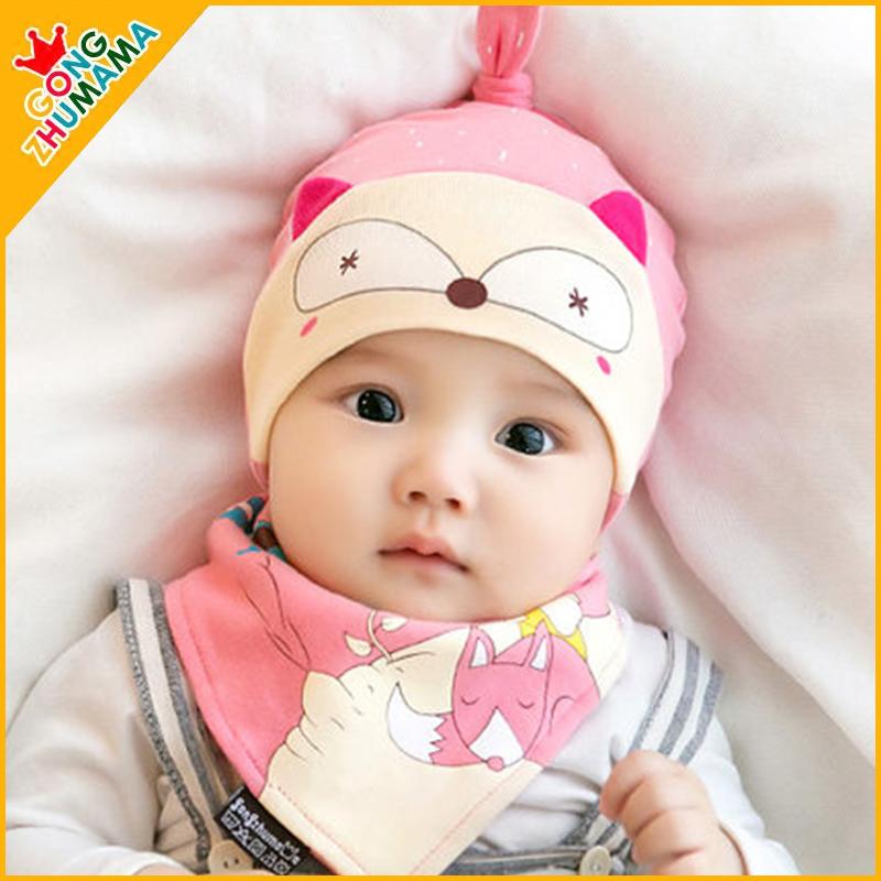 婴儿帽子秋冬新生儿帽胎帽0-3-6-12个月男女宝宝帽子纯棉春秋儿童