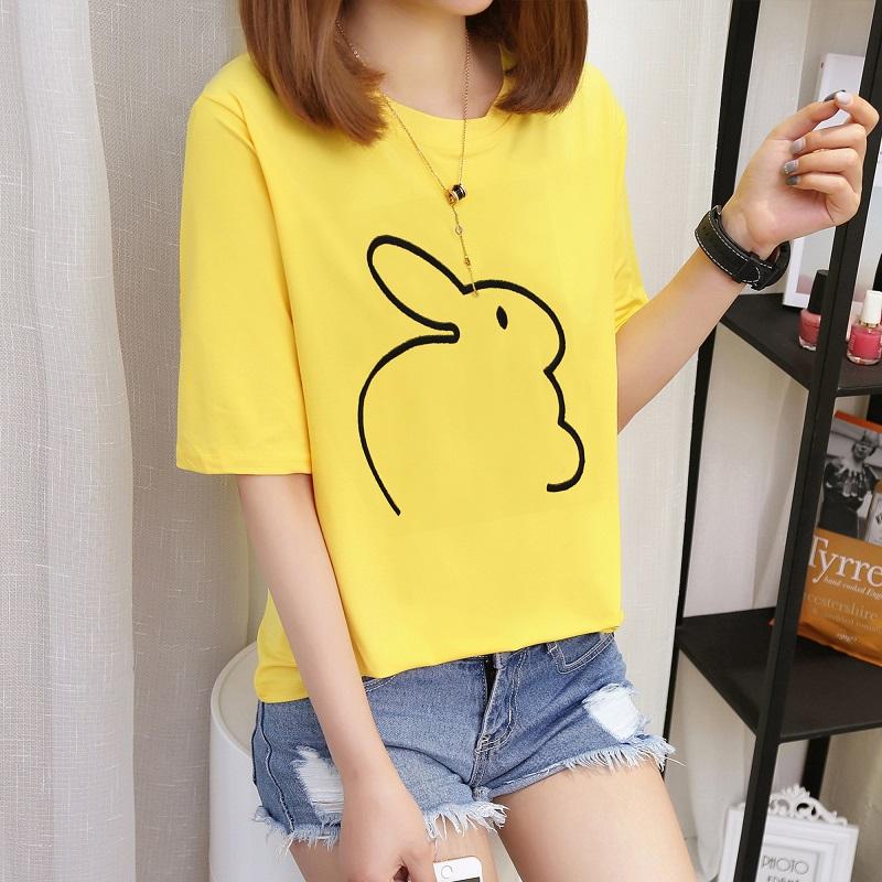 1349*绣花兔 黄色