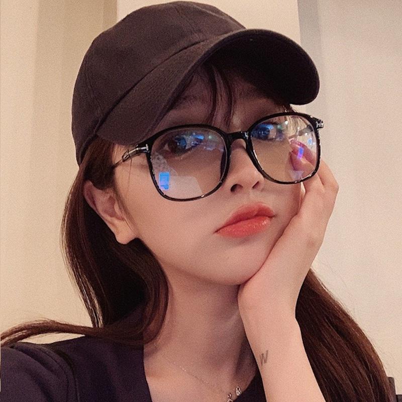 ins网红款素颜神器黑框眼镜女大框韩版潮近视眼镜框大脸显瘦可配