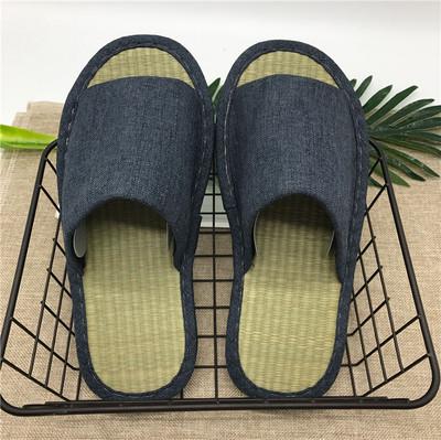 2双包邮日本凉爽夏季女士草席拖鞋竹席家居室内地板凉拖家用客托 拍下9.9元包邮