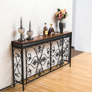 European style iron art porch table porch table home heating cover desk aisle flower table entrance door cabinet