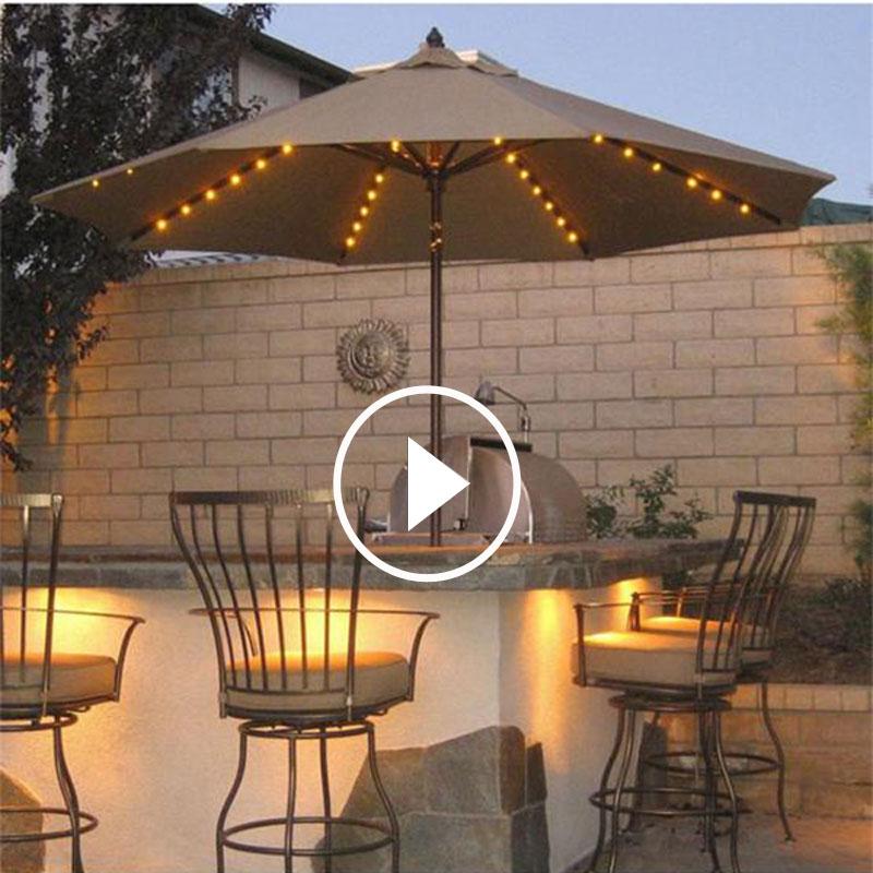 户外 遮阳伞 露台 桌椅 太阳能 庭院 花园 罗马 室外 休闲