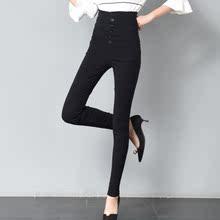 黑色绒裤女冬季打底裤加绒加厚外穿to13腰薄裤up瘦拉绒毛裤