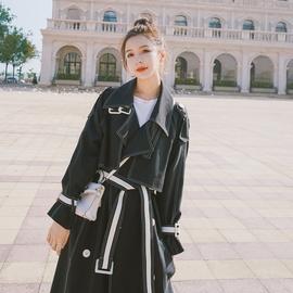 韩版风衣女2020新款秋季宽松中长款气质女神范收腰显瘦英伦风外套