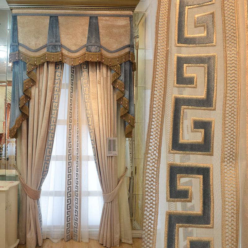 飘窗帘遮光现代新中式丝绒绒布卧室客厅定制成品落地窗窗帘伊迪丝