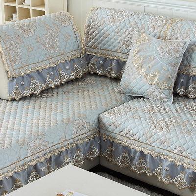沙发垫四季定做通用田园布艺沙发套全包沙发套皮沙发垫欧式客厅冬