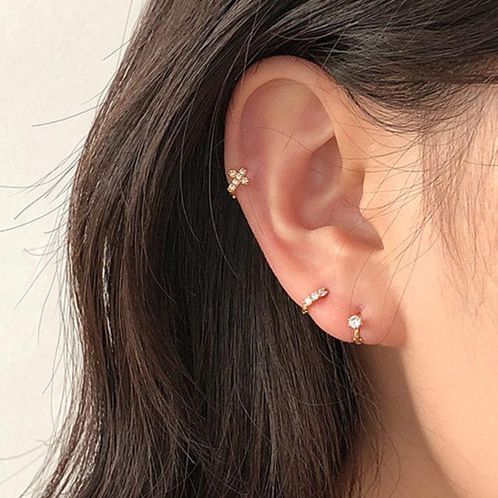 高级感耳扣耳环女小众优雅设计耳钉2019新款潮简约冷淡风个性耳饰