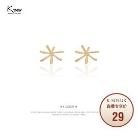 K姐 925银针 烟花耳钉 新品微镶钻个性小众设计高级感耳饰女