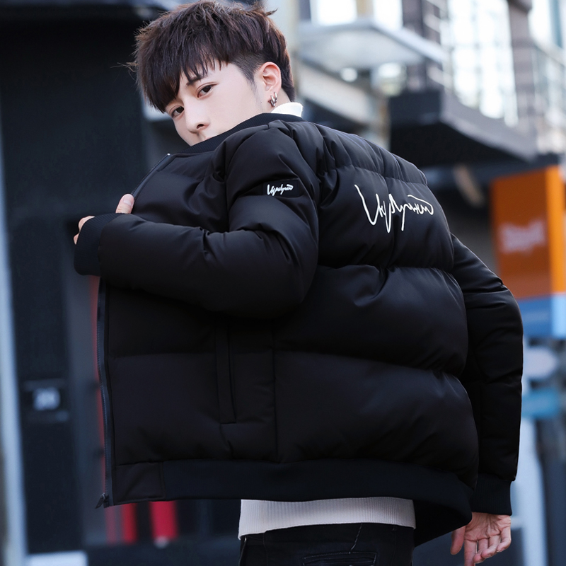 爆款 冬季加厚保暖短款棉衣男士棒球领棉衣面包服外套 MY04-P50