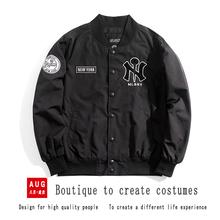 正品MLBNY春秋vn6款棒球服ng情侣款韩国刺绣飞行夹克潮外套