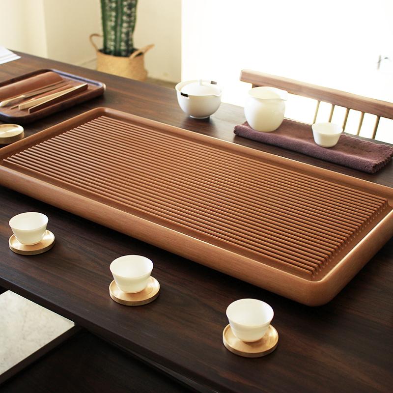 电木茶盘功夫茶具德国进口长方形电胶木家用极简约茶台台湾设计