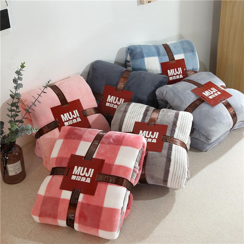 yy网红爆款法莱绒毯珊瑚绒空调毯可铺可盖毯子超柔加厚款床