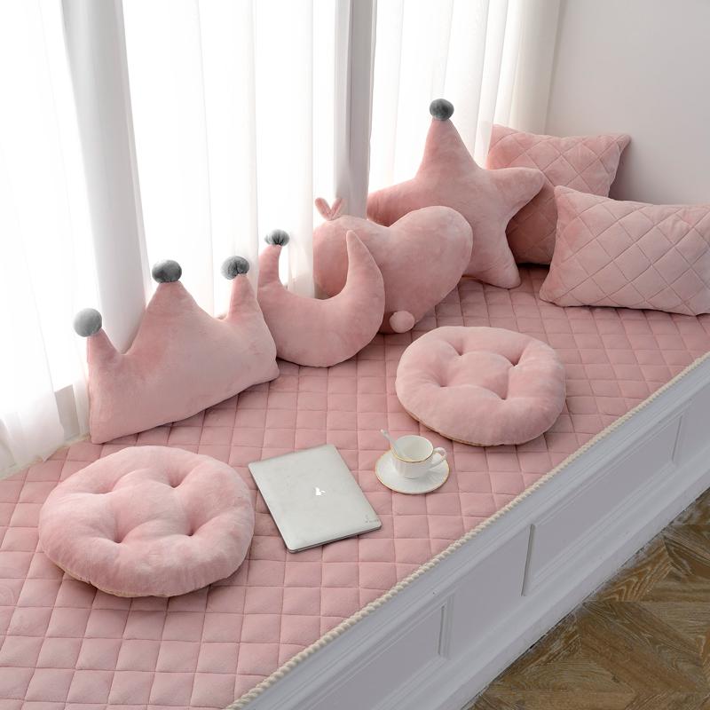 北欧飘窗窗台垫定做阳台毯榻榻米套飘窗垫毯可机洗卧室落地窗四季