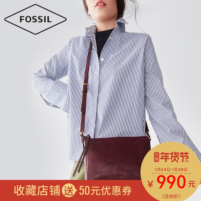 Fossil/化石新款女士欧美时尚休闲简约单肩斜挎牛皮女包ZB6842
