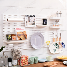 Hole-free kitchen hollow panel wall suitable for small nail board storage shelf kitchen bathroom wall receptacle shelf