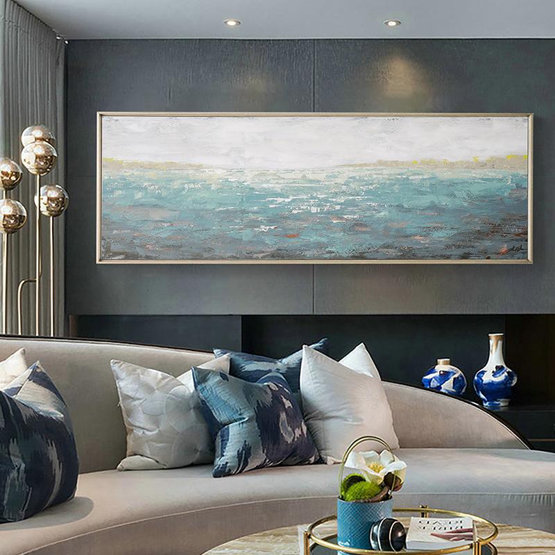 DUDUO都多油画原创手绘装饰画定制客厅沙发卧室装饰画 抽象油画
