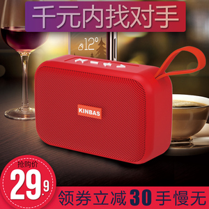 Wireless Bluetooth Speaker Portable High Volume Waterproof Subwoofer 3D Surround Stereo Home Outdoor Sports Portable Phone Small Audio Card Small Mini USB Disk Radio Dual Speaker