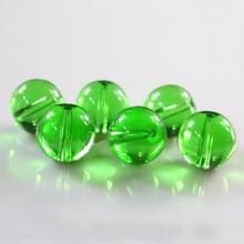 草绿色圆861珠 珠帘21挂帘材料DIY饰品手链水晶配件批发