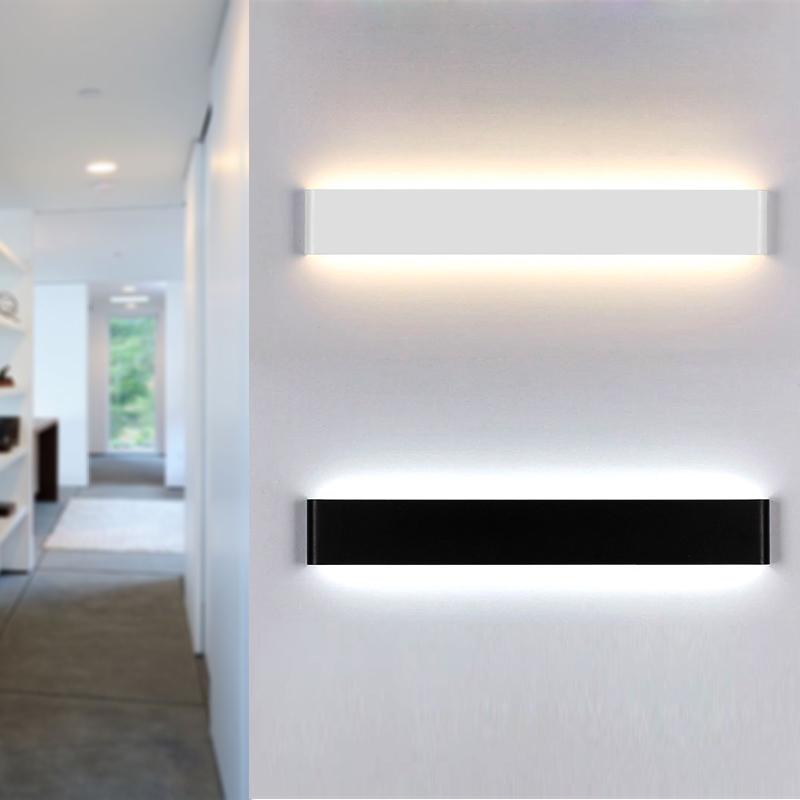 简约现代个性创意客厅卧室床头餐厅过道阳台墙壁酒店长形LED壁灯-当代设计灯