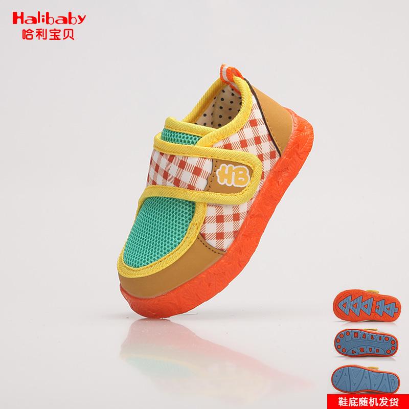 儿童 1-3岁宝宝魔术贴时尚休闲学步鞋防滑软底透气小童鞋男童女童