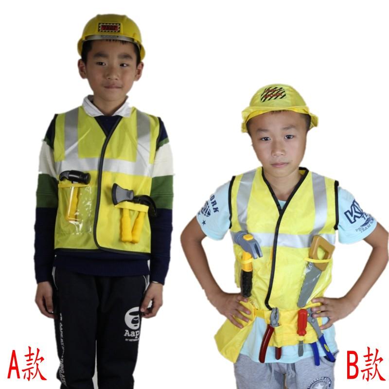 儿童职业工作体验服 工程师维修工伐木工扮演服 幼儿园角色表演服