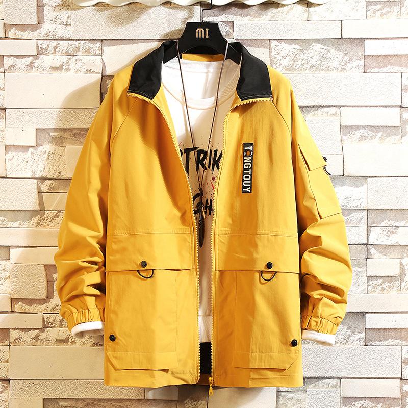男士外套休闲帅气春季开衫上衣服新款夹克韩版潮流宽松外衣棒球服